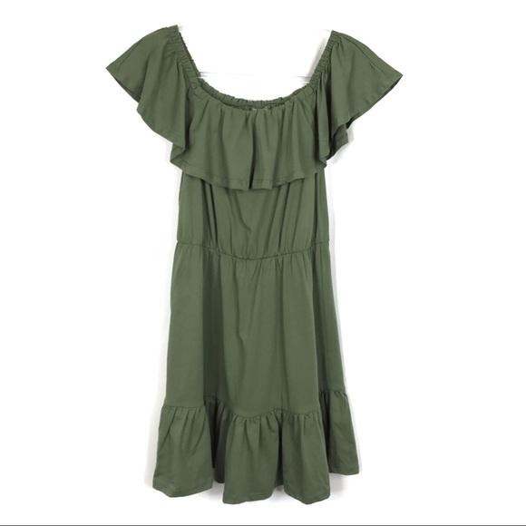 ASOS Dresses & Skirts - ASOS | Green Off The Shoulder Dress
